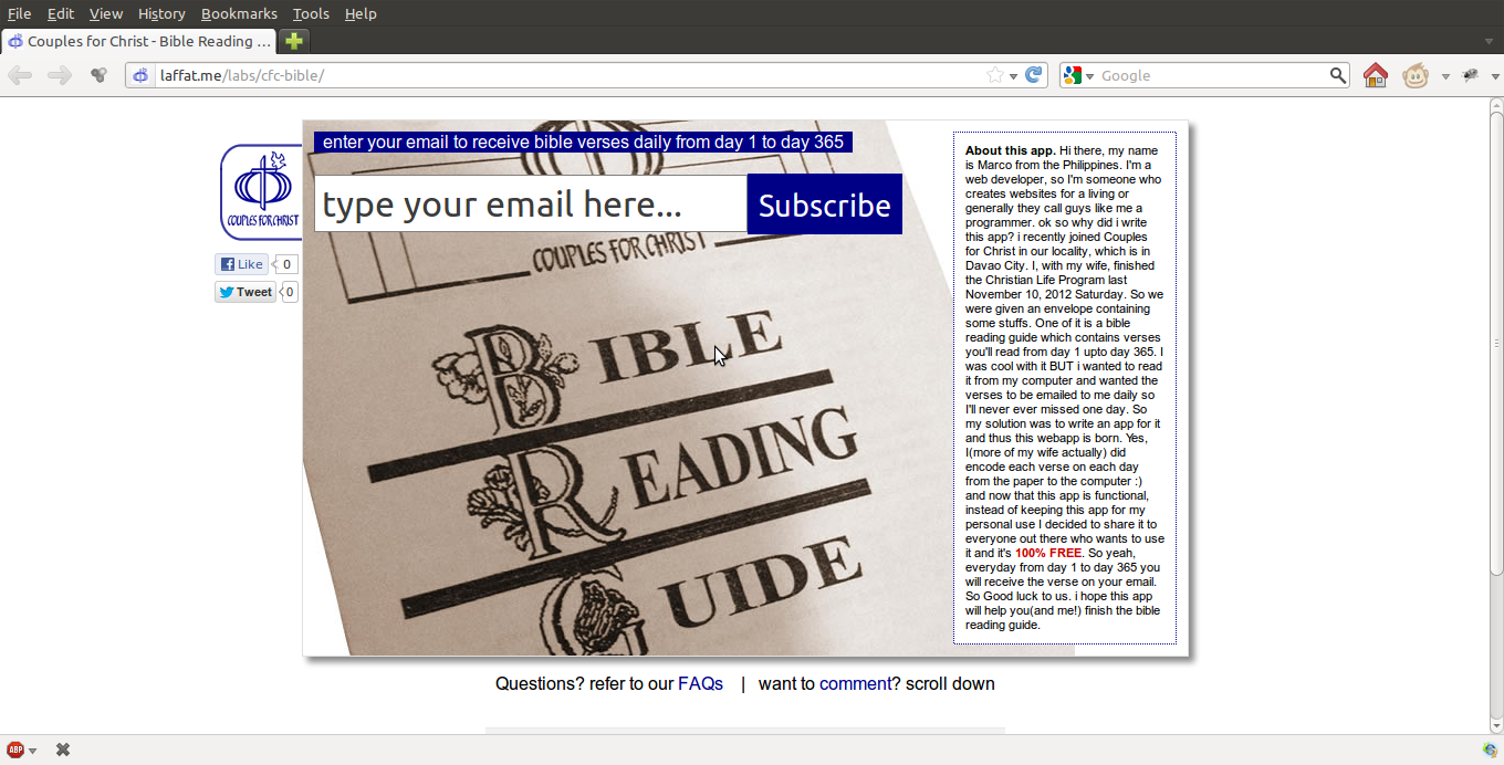 CFC bible reading guide | Life, Music and the Web… Revived!